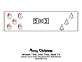 Christmas-Themed Greater Than, Less Than, Equal To.