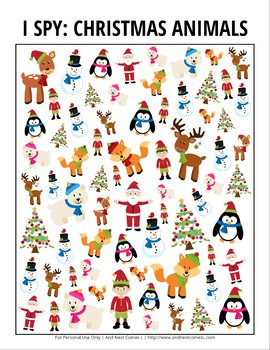 Christmas Themed I Spy Games Pack