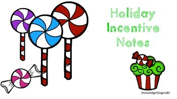 Christmas Themed Incentive Notes