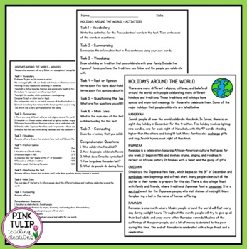 Christmas Themed Information Texts - Reading Strategy Comprehension Pieces