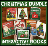 Christmas Themed Interactive Books Big Bundle! 4 Books! (+Bonus No Print Book)