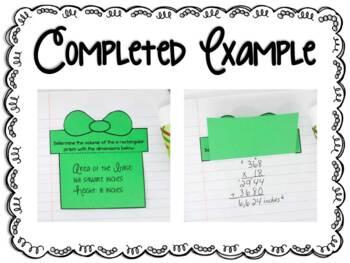 Christmas Themed Interactive Notebook Templates: 5th Grade Math