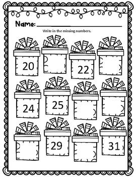 Christmas Themed Kindergarten Math 2