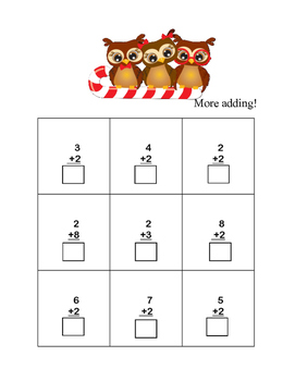 Christmas Themed Kindergarten Math -Adding Within 10-CCSS