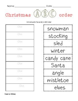 Christmas Themed Langague Arts Packet