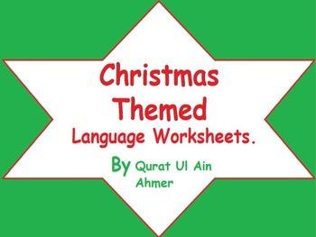 Christmas Themed Language Worksheets: