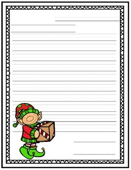 Christmas Themed Letter Writing Paper
