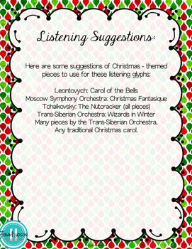 Christmas Themed Listening Glyphs