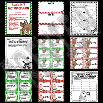 Holidays Christmas Activities, Christmas Reading Centers, ELA, Reading Centers