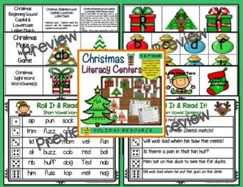 Christmas Themed Literacy & Math Bundle