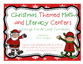 Christmas Themed Literacy and Math Centers