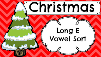 Christmas Themed Long E Vowel Sort