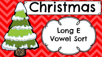 Christmas Themed Long E Vowel Sort