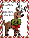 "Christmas Themed Long Vowel and Short Vowel Word Sort with Silent ""e"""