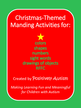 Christmas-Themed Manding and Matching Activities