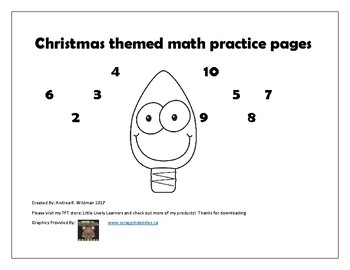 Christmas Themed Math Activity Pages