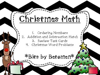 Christmas Themed Math Review Bundle
