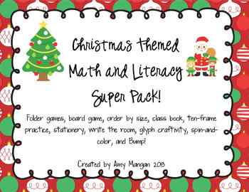 Christmas Themed Math and Literacy Super Pack