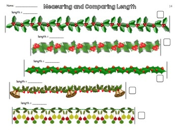Christmas Themed Measuring and Comparing Activities - Metric
