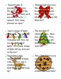 Christmas Themed Missing Addends and Subtrahend Word Problems