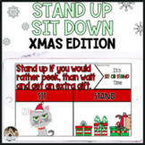 Christmas Themed Movement Game Stand Up Sit Down