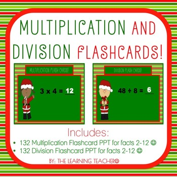 Christmas-Themed Multiplication & Division PPT Flashcards