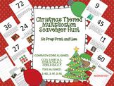 Christmas Themed Multiplication Scavenger Hunt - Multi Ste