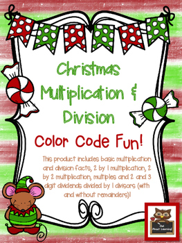 Christmas Themed Multiplication and Division Skills Color