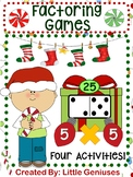 Factoring and Multiplication Christmas Activities
