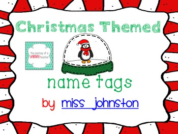 Christmas Themed Name Tags