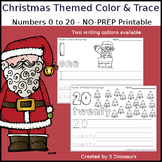 Christmas Themed Number Color and Trace