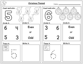 Christmas Themed Numbers Worksheets(1-20):