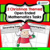 Christmas Themed Open Ended Mathematics - 2 Free Worksheets