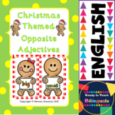 Christmas Themed Opposite Adjectives cards for games (prim