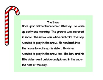 Christmas Themed Oral Reading Fluency Short Stories by CanDoClassroom