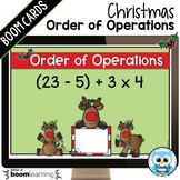 Christmas Themed Order of Operations Digital Task Cards