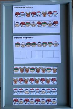 Christmas Themed Pattern Centers for Kindergarten