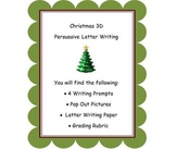 Christmas Themed Persuasive Letter Writings