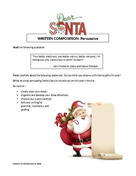 Christmas Themed Persuasive Prompts