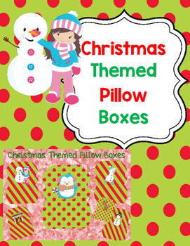 Christmas Themed Pillow Boxes