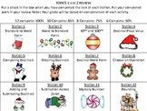 Christmas Themed Place Value, Decimals, and Subtraction ac