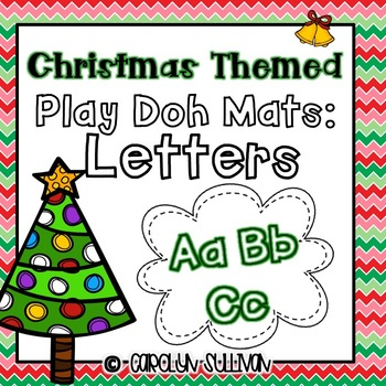 Christmas Themed Play Doh Mat- Letters