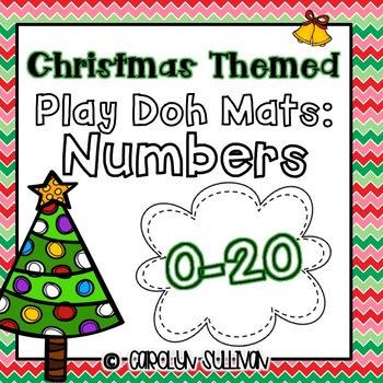 Christmas Themed Play Doh Mat- Numbers 0-20