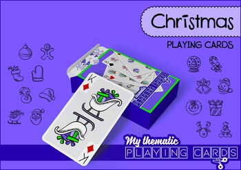 Christmas Themed Playing Cards Deck