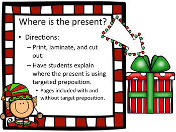 Christmas Themed Prepositions: Present Prepositions