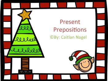 Christmas Themed Prepositions: Present Prepositions
