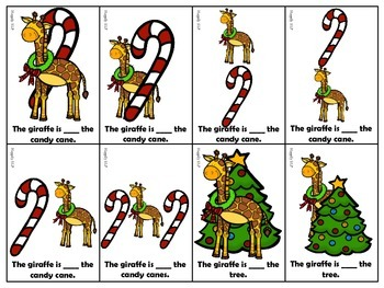 Christmas Themed Prepositions for Expressive and Receptive Language