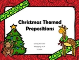 Christmas Themed Prepositions for Expressive and Receptive