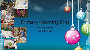 Christmas Themed Primary Morning STEM Centers