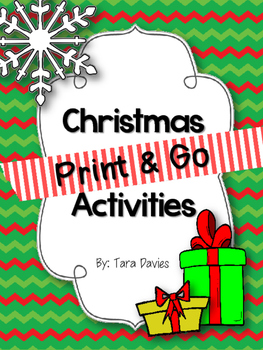 Christmas Themed Print & Go Activities